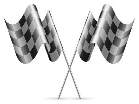 winning stock: Checkered flags.
