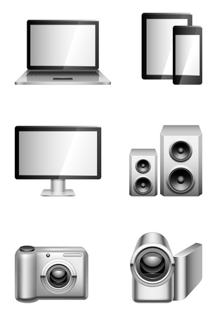 Computers and electronics. Vector
