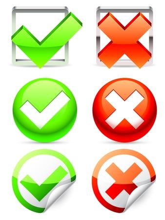 Check symbols Stock Vector - 18977038