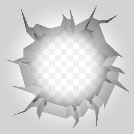 Wand Riss Vektorgrafik