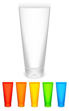 cosmetic bottle: Color tubes of cream