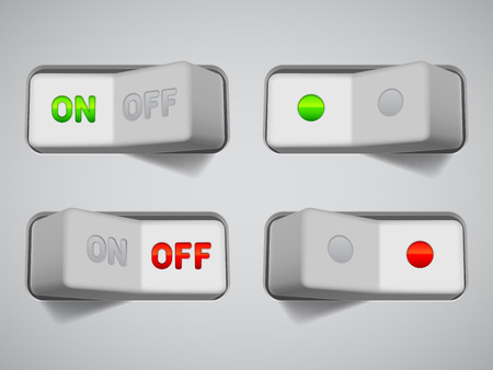 On and Off switches  Vector