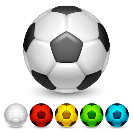 Soccer balls  Illustration