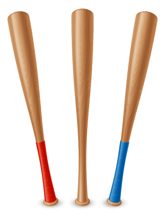 murcielago: Bate de béisbol Vectores