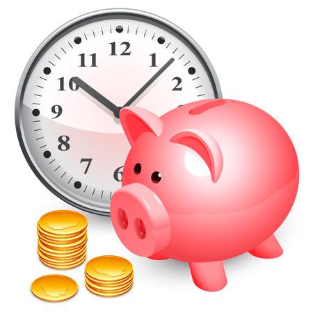 Time is money concept  Ilustração