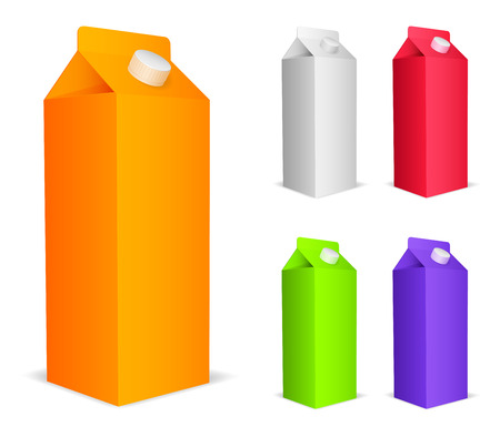 Color juice packs  Vector