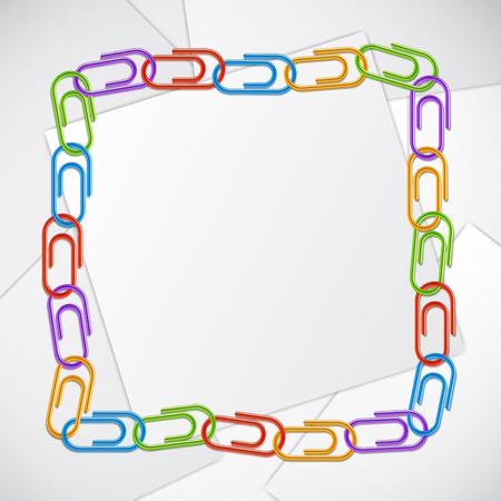 Rahmen aus farbigen Büroclips