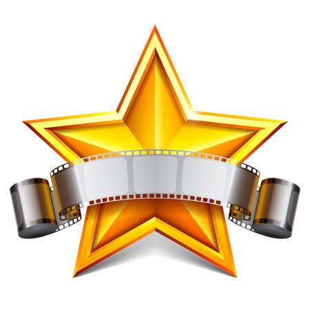 vedette de cin�ma: Movie star Illustration