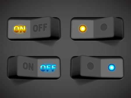 Collection of On and Off switches  Vector