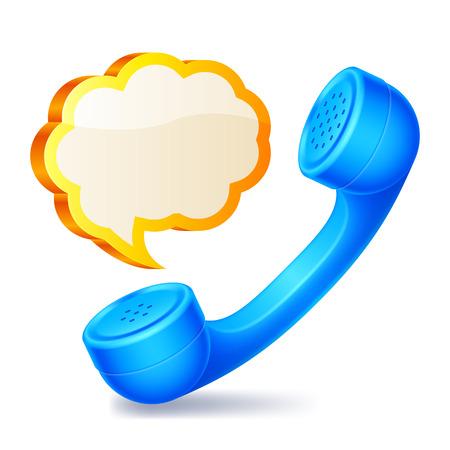 handset: Handset and speech bubble.