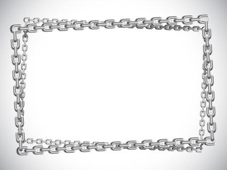 metal chain: Metal chain frame.