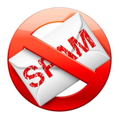 email security: No spam sign. Illustration