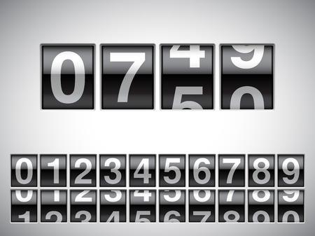 Teller met alle nummers op een witte achtergrond.