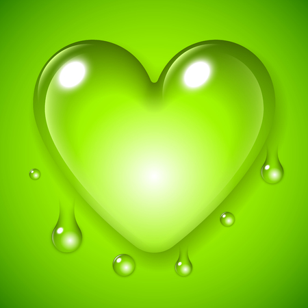 waterdrop: Big waterdrop in a shape of love heart symbol