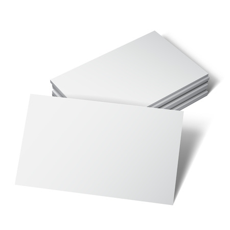 blank card: Business card with blank space on white background