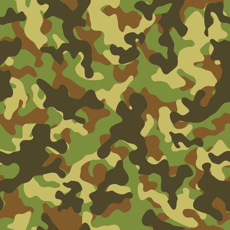 camuflaje: Ilustración del vector del camuflaje del arbolado patrón transparente Vectores