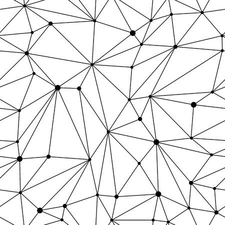 Black and white geometric mesh seamless pattern Vettoriali
