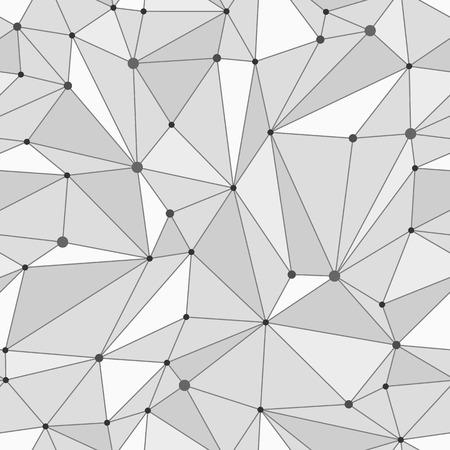 Black and white geometric mesh seamless pattern Ilustração