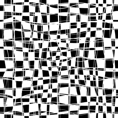 checker: Black and white checker chess seamless pattern