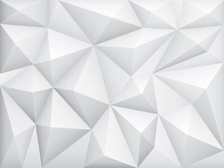 Vector illustration of white abstract geometric background Ilustração