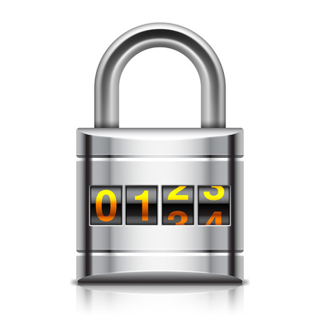 coded: illustration of coded padlock on white background