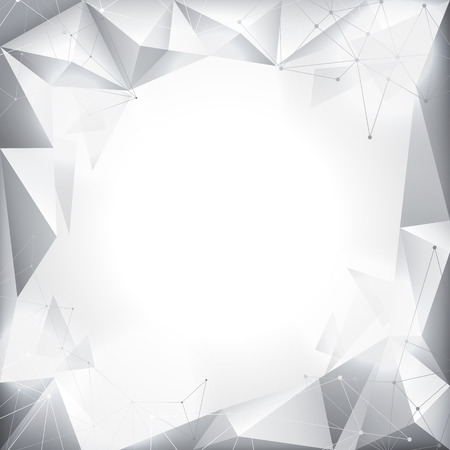 white abstract: Vector illustration of white abstract geometric background Vettoriali