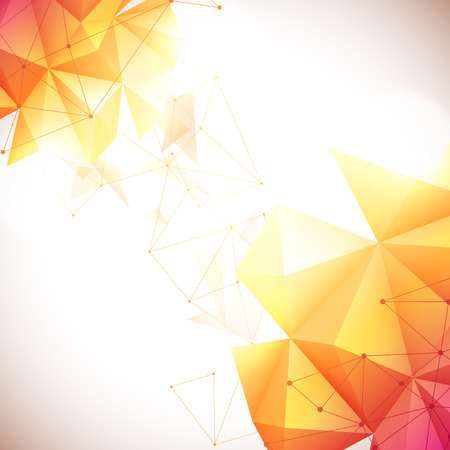 orange abstract: Vector illustration of yellow and red abstract geometric background