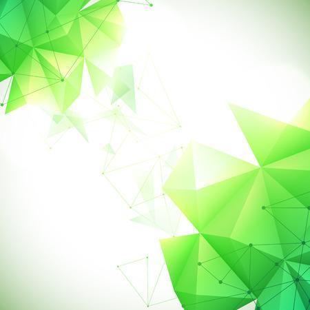 verde: Ilustración vectorial de fondo verde geométrico abstracto Vectores