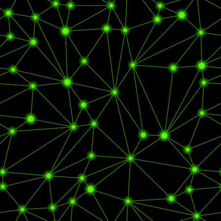 grid pattern: Black and green geometric mesh seamless pattern