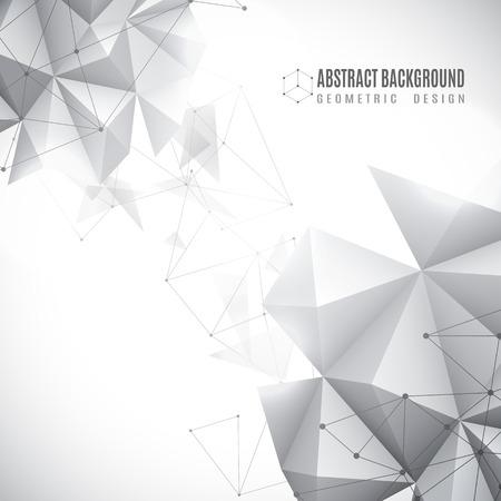 Illustrazione vettoriale di sfondo geometrico astratto bianco e nero Archivio Fotografico - 43125376