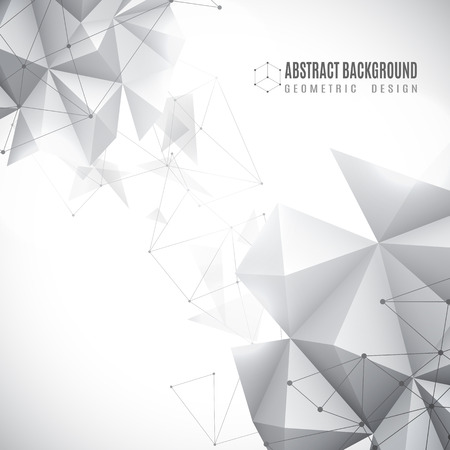 Vector illustration of black and white abstract geometric background