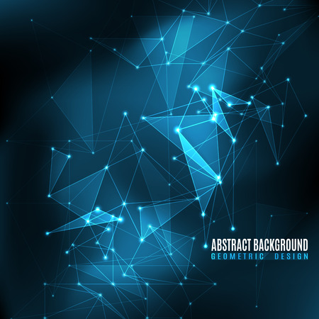blue star: Vector illustration of black and blue abstract geometric background