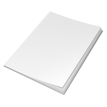illustration of book with empty blank cover Illustration