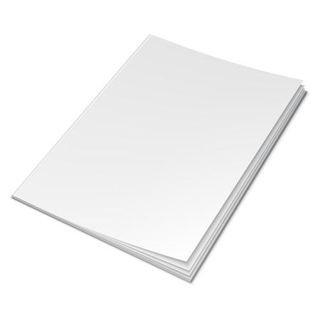 portadas: ilustración de libro con portada en blanco vacío