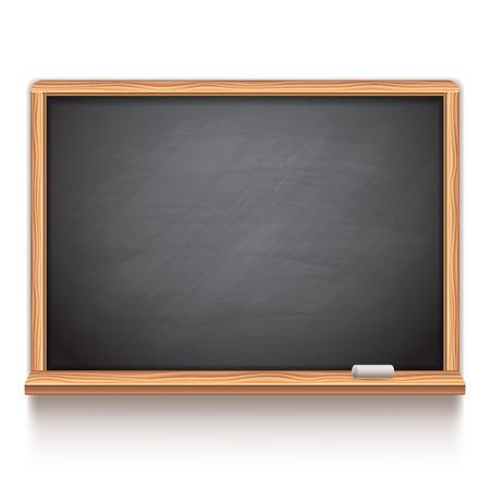 Black school chalk board on white background