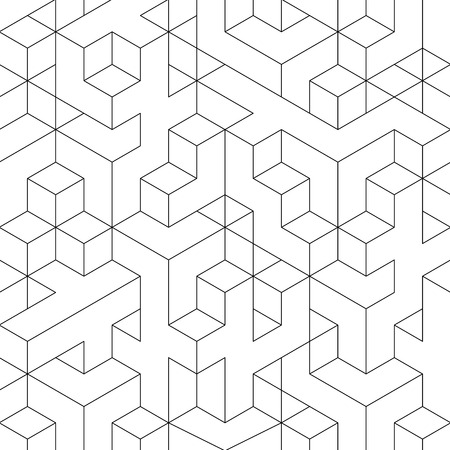 Black and white lined abstract geometric background