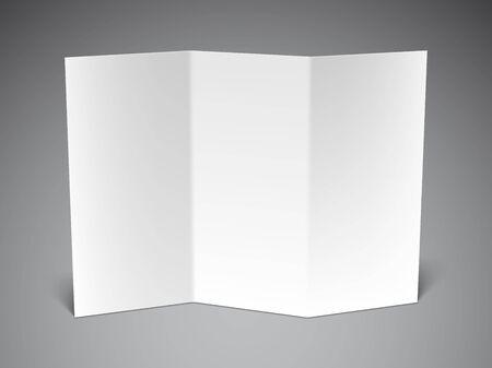 blatt: Gefalteten weißen Blatt Papier auf grauem Hintergrund