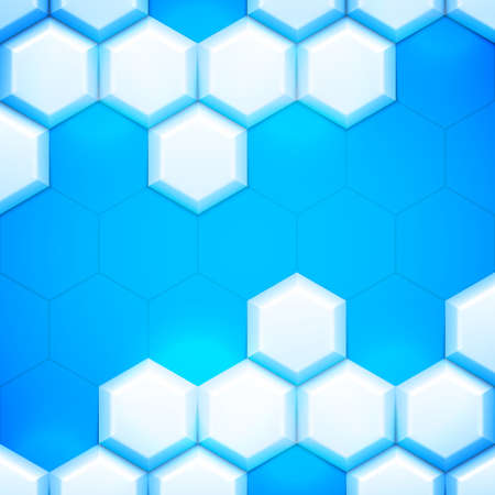 blue cells: Blue and white abstract geometric background with cells