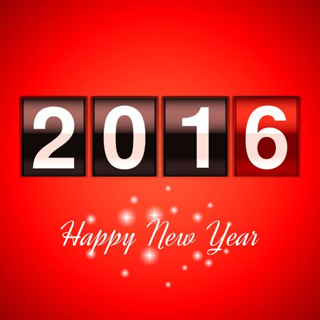 new year counter: Happy new year background with 2016 counter