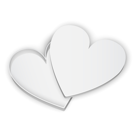 14 feb: Opened heart gift box on white background