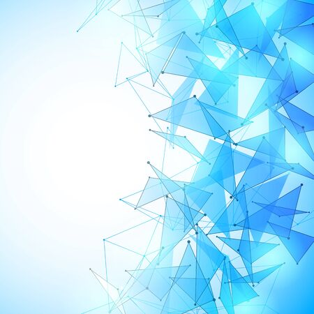 diamond shape: Vector illustration of blue and white abstract geometric background