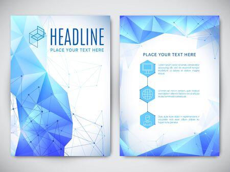 blank poster: Geometric polygonal design of brochure or book cover Illustration