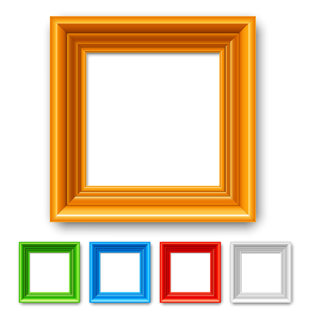 classic classical: Set of 5 color picture frames or borders for photo or painting