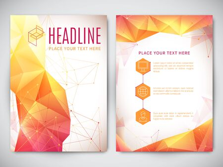 blank poster: Geometric polygonal design of  brochure or book cover