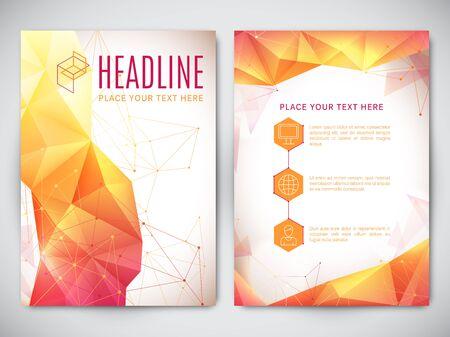 diseño poligonal geométrica de folleto o libro de tapa