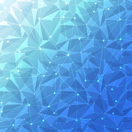 diamond shape: Blue abstract geometric background with polygon mesh grid pattern