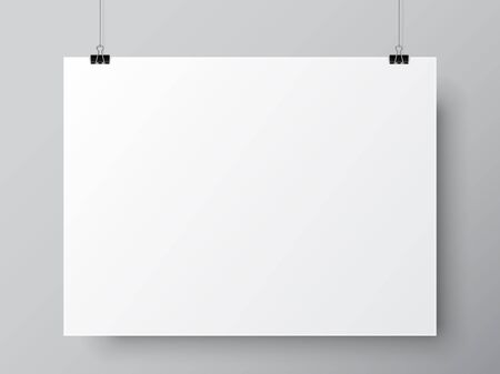 white: Blank White Poster Template