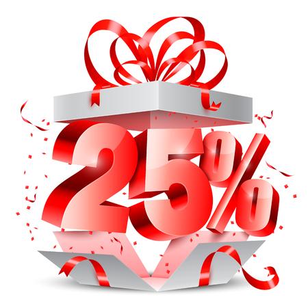 20: Twenty Five Percent Discount Gift Illustration