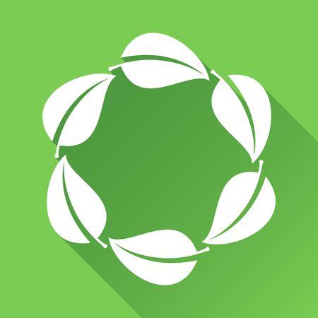 leaf logo: Green Leaves Background