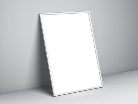 blank poster: Blank white poster template Illustration